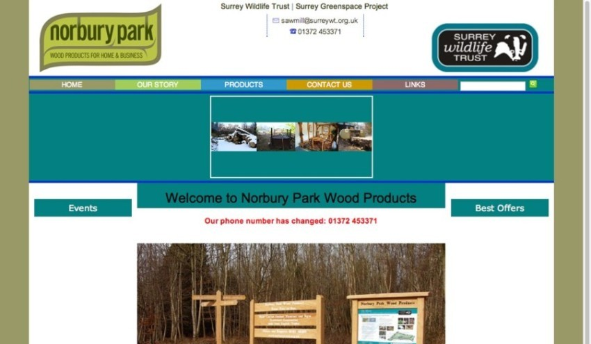 The old Norbury Park homepage